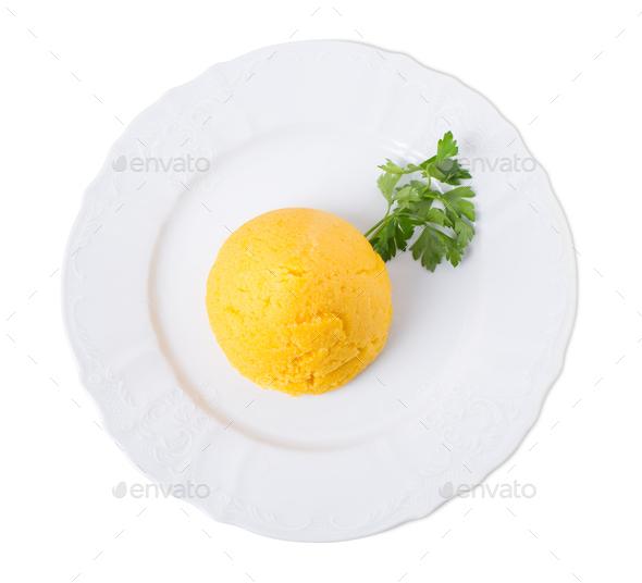 Delicious corn maize porridge. - Stock Photo - Images