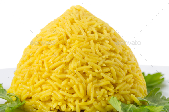 Delicious rice with curry. - Stock Photo - Images