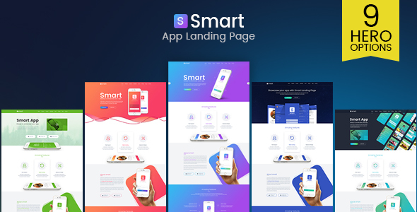 Smart – App Landing Page PSD Template