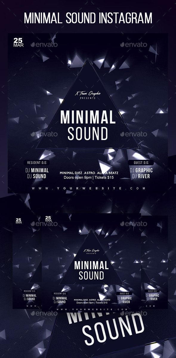 Minimal Sound Instagram Banner - Social Media Web Elements