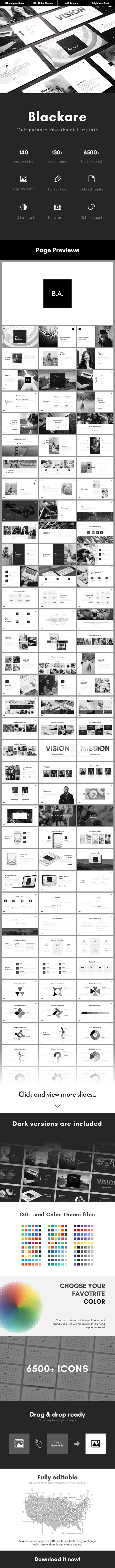 Blackare Multipurpose PowerPoint Template - Business PowerPoint Templates