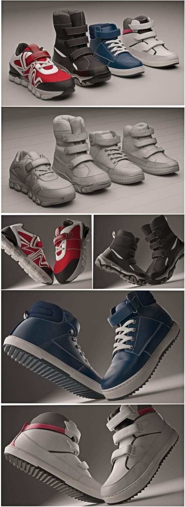 Footwear collection - 3DOcean Item for Sale