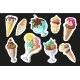 Cartoon Ice Creams Stickers. - GraphicRiver Item for Sale