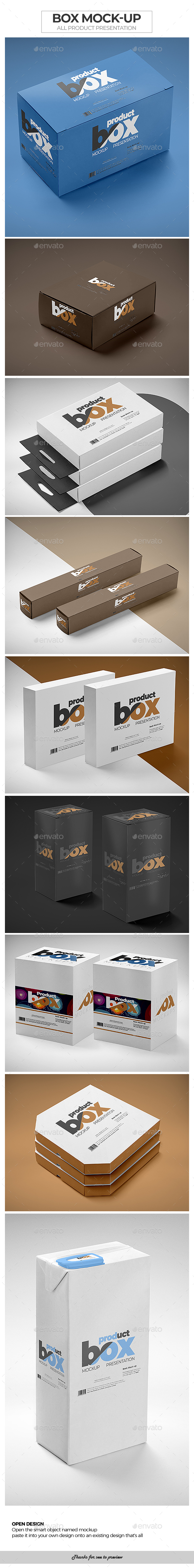 Box Mock-Up / All Product Presentation - Packaging Product Mock-Ups