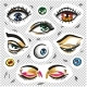 Eyes Fashion Stickers Patch Badges Isolated - GraphicRiver Item for Sale