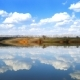Clouds Are Reflected in Smooth Water of Lake, - VideoHive Item for Sale