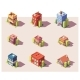Vector Low Poly Isometric Buildings Set - GraphicRiver Item for Sale