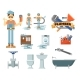 Professional Plumbing Repair Service Set - GraphicRiver Item for Sale