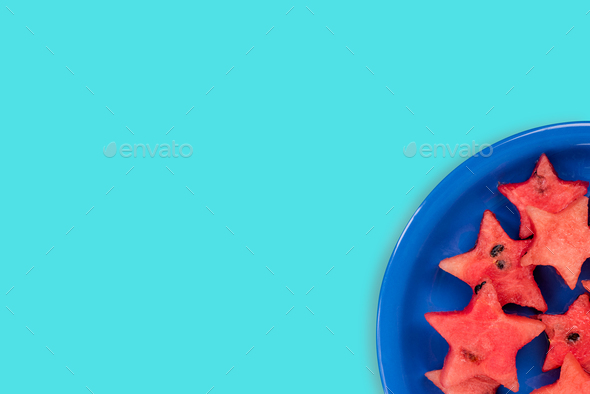 Watermelon creative star pieces - Stock Photo - Images