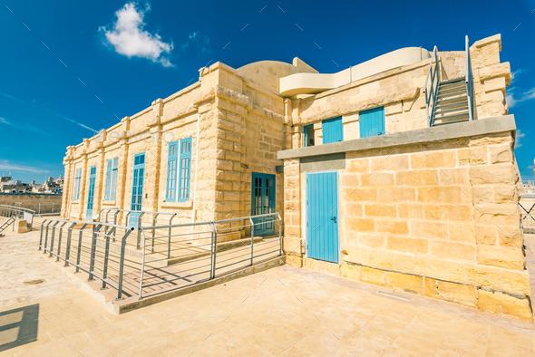 Barracks in Fort Saint Angelo, Birgu, Malta - Stock Photo - Images