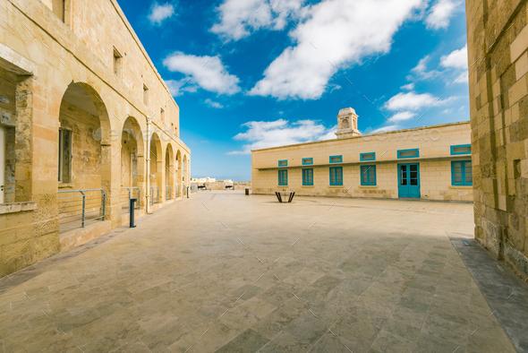 Building of Fort Saint Angelo, Birgu,Malta - Stock Photo - Images