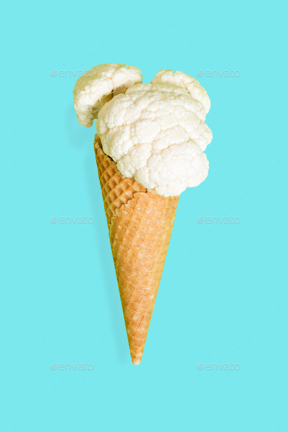 Summer diet concept, vege ice cream - Stock Photo - Images