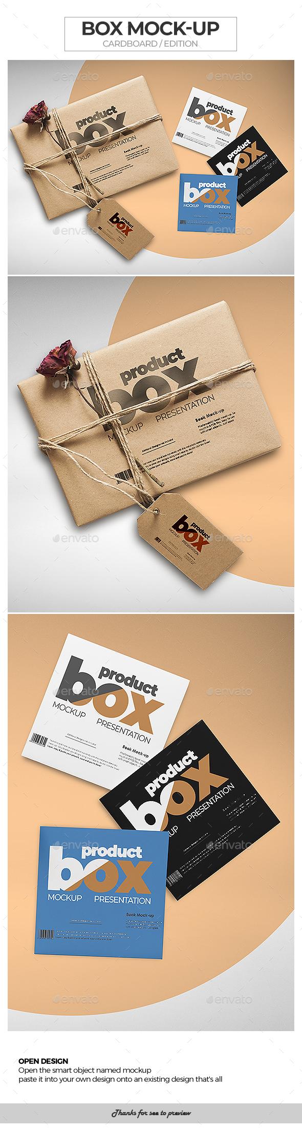Box Mock-Up / Cardboard Edition - Packaging Product Mock-Ups