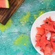 Star shapes cut off from fresh watermelon - PhotoDune Item for Sale