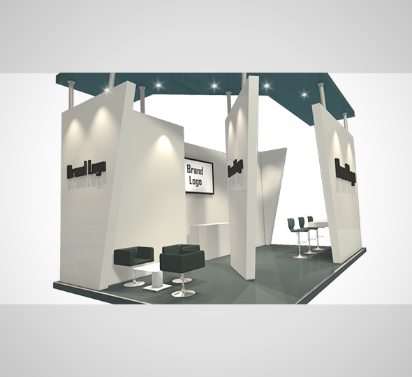 Stand Design 003 - 3DOcean Item for Sale