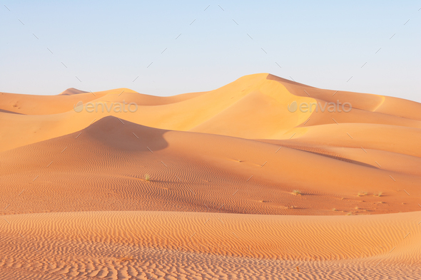 Dune Landscape in the Empty Quarter - Stock Photo - Images
