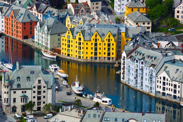 City of Alesund Norway - Stock Photo - Images