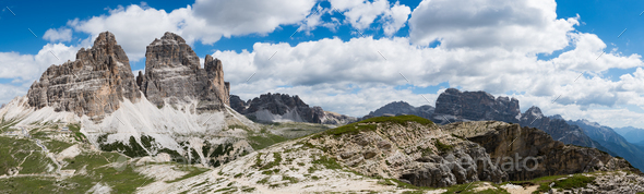 National Nature Park Tre Cime In the Dolomites Alps. Beautiful n - Stock Photo - Images