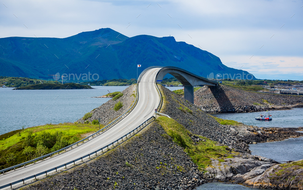 Atlantic Ocean Road Norway - Stock Photo - Images