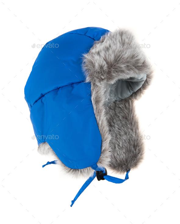 Warm fur cap - Stock Photo - Images