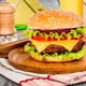 Tasty and appetizing hamburger cheeseburger - PhotoDune Item for Sale