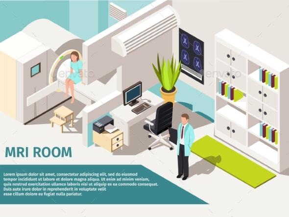 Medicine Concept MRI Scan and Diagnostics Patient - Health/Medicine Conceptual