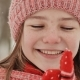 Portrait of a Young Schoolgirl with Freckles in the Woods in Winter - VideoHive Item for Sale