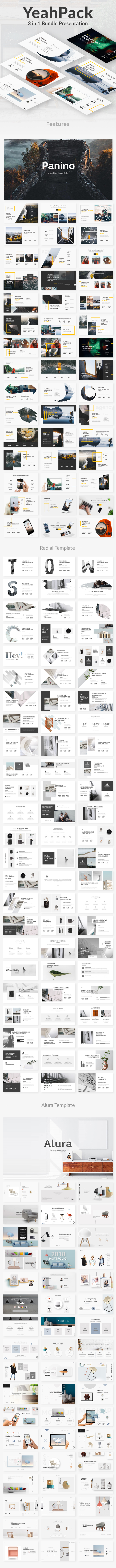 3 in 1 Yeahh Pack Keynote Creative Bundle Template - Creative Keynote Templates