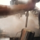 Blast of Steam on Professonal Coffee Machine Barista Working in Coffeeshop - VideoHive Item for Sale
