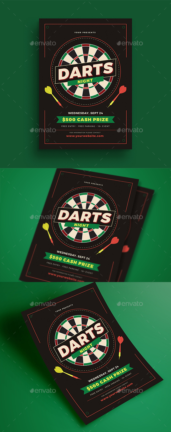 Darts Night Event Flyer - Events Flyers