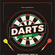 Darts Night Event Flyer - GraphicRiver Item for Sale