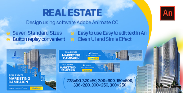 Real Estate Banner Ad HTML5 - 7size (Animate CC) - CodeCanyon Item for Sale