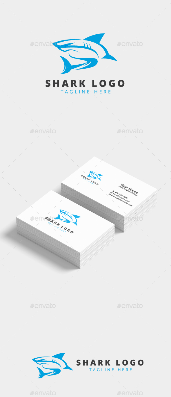 Blue Shark Logo - Animals Logo Templates