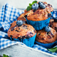 Fresh homemade delicious blueberry muffins - PhotoDune Item for Sale