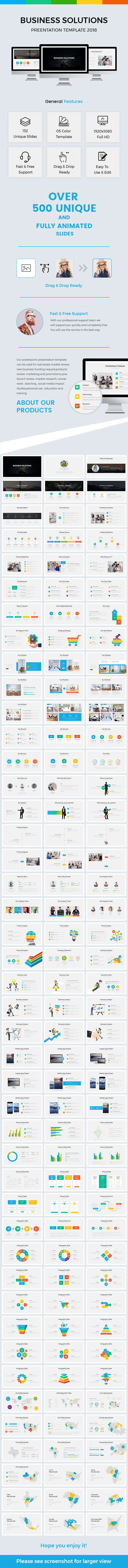 Business Solutions  Powerpoint Template 2018 - Business PowerPoint Templates