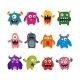 Set of Cartoon Monsters - GraphicRiver Item for Sale