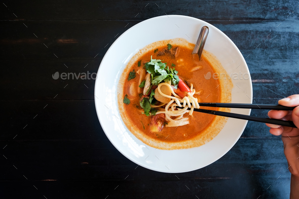 Tom Yam Soup. Traditional thai seafood. - Stock Photo - Images