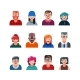 Set of People Flat Avatars - GraphicRiver Item for Sale