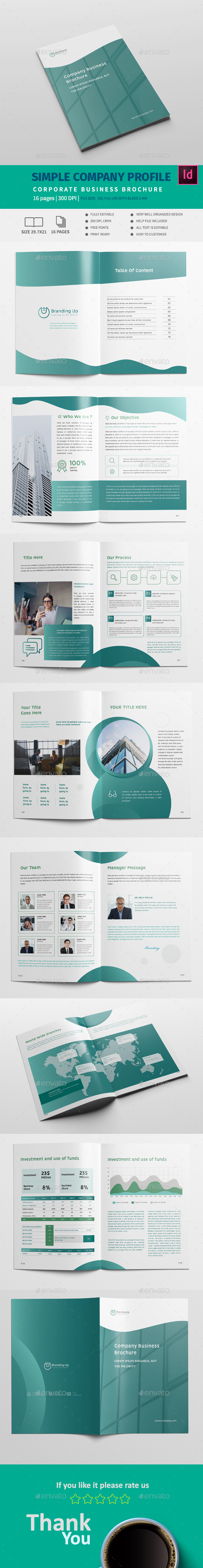 Simple Company Template - Corporate Brochures