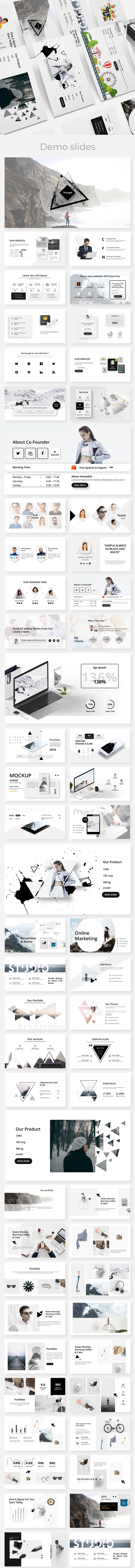 Triangle Creative Google Slide Template - Google Slides Presentation Templates