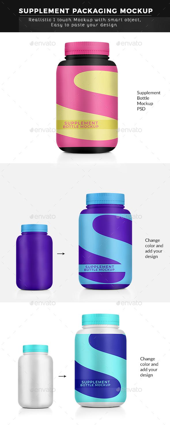 Supplement Bottle Mockup - Graphics