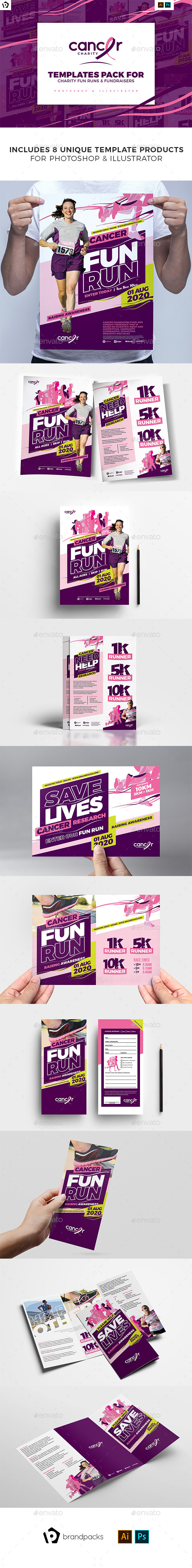 Cancer Benefit Templates Pack - Sports Events