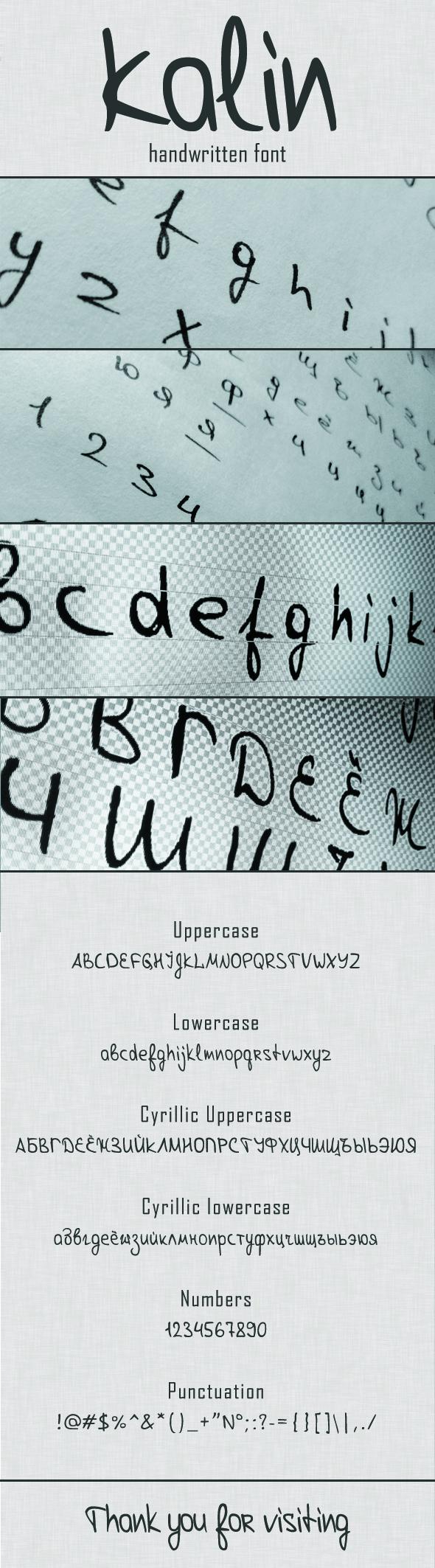 Kalin Handwritten - Handwriting Fonts