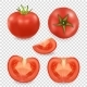 Vector 3d Realistic Different Tomato Icon Set - GraphicRiver Item for Sale