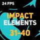Liquid Elements Impacts 31-40 - VideoHive Item for Sale