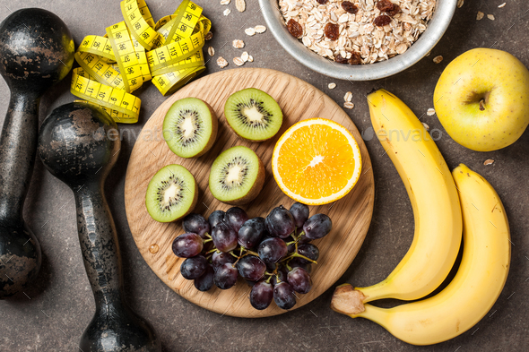 Fitness, healthy food concept - Stock Photo - Images