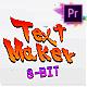 Arcade Text Maker 8bit Glitch Titles | Mogrt - VideoHive Item for Sale