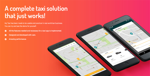 Taxi Application Android & iOS Solution + dashboard - CodeCanyon Item for Sale