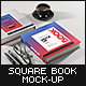 Book Mock-Up Set 3 (Square Hardcover) - 2018 Edition - GraphicRiver Item for Sale