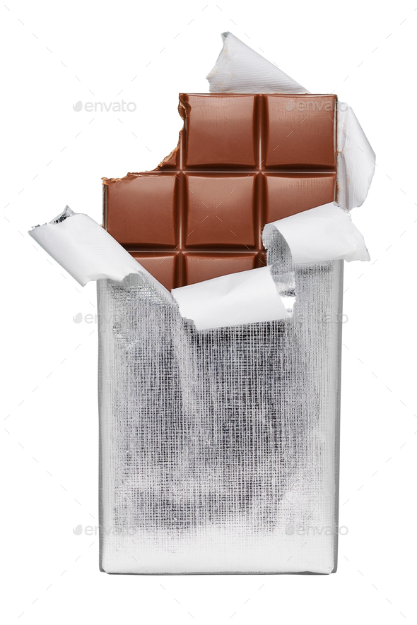 Chocolate bar isolated - Stock Photo - Images